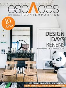 Titelseite espAces contemporains